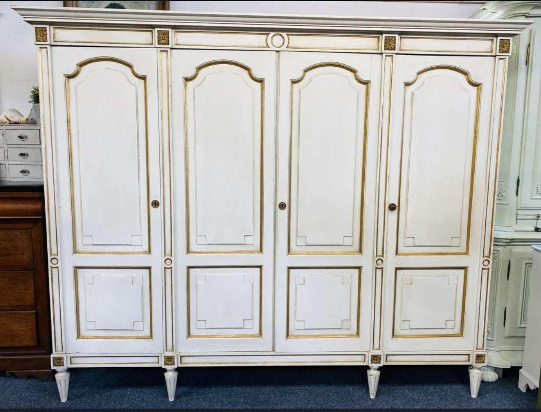 4 door vintage empire style french wardrobe