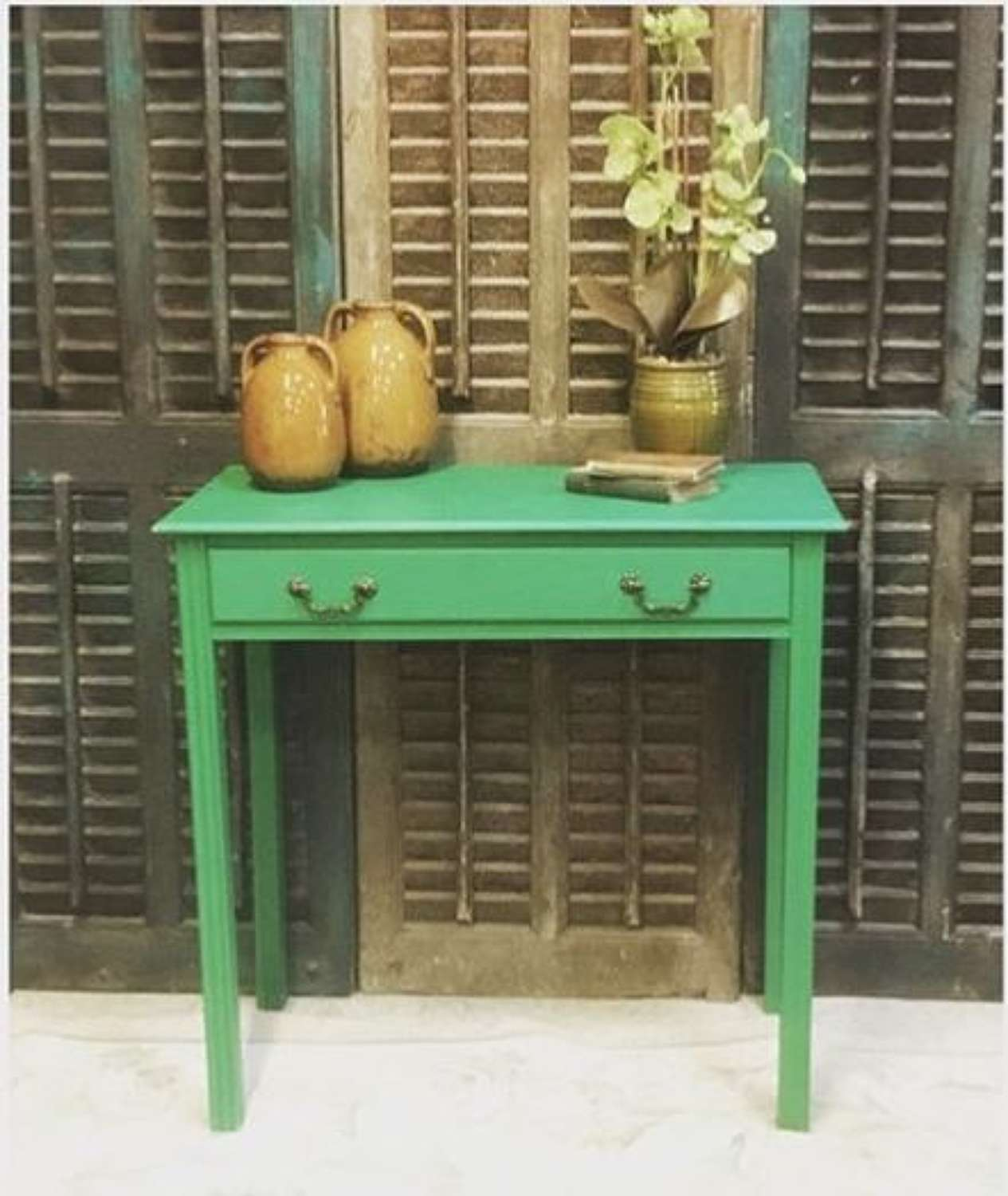 Hall table or desk with a drawer