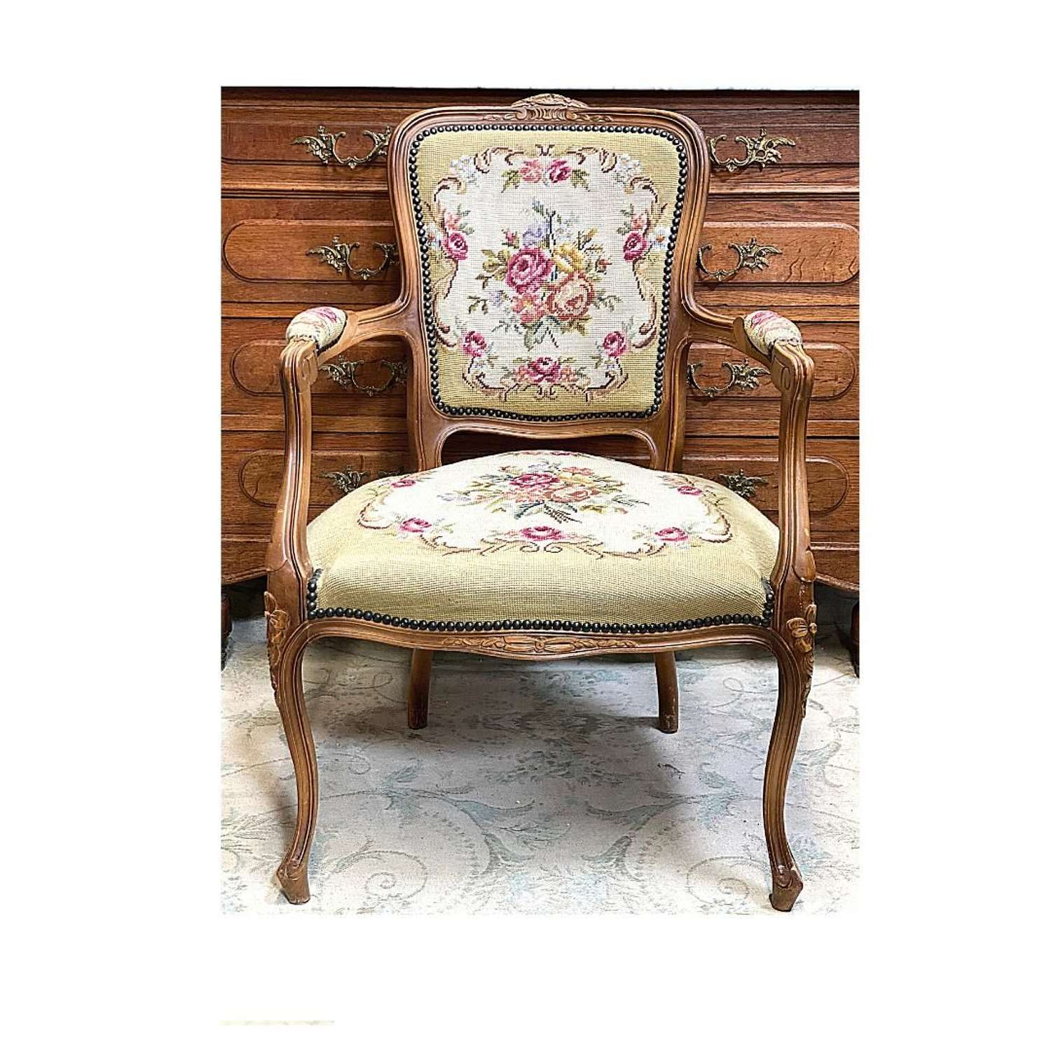 French tapestry armchair