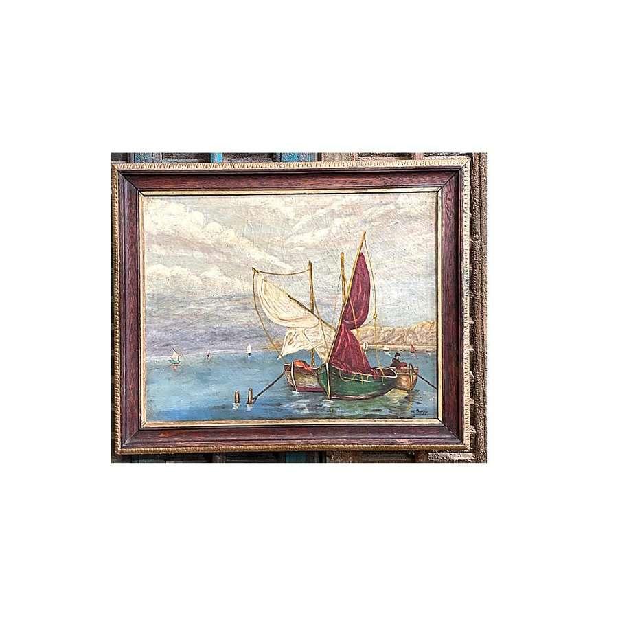 Framed, signed oil on canvas c1900