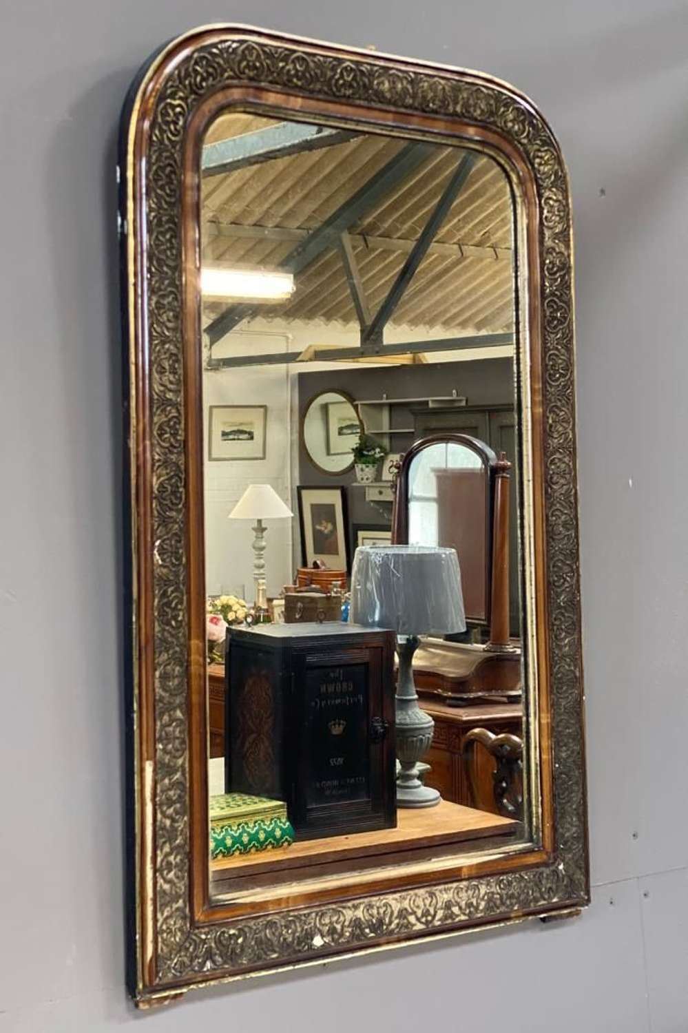 Vintage French Arched mirror