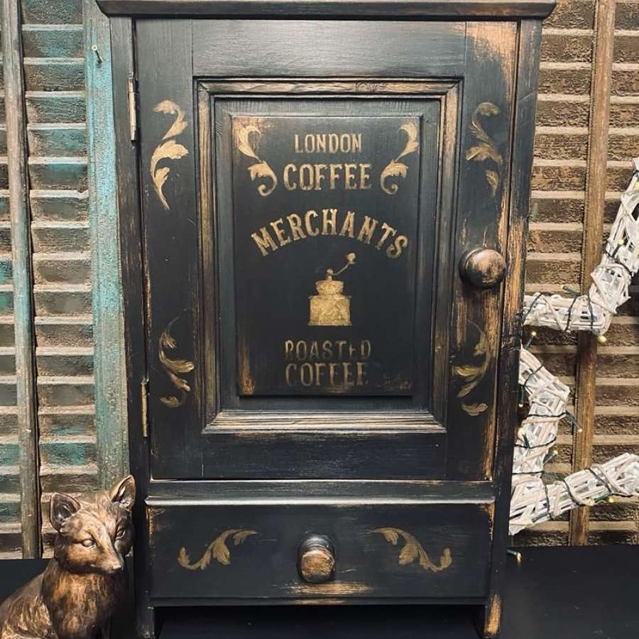 Painted pine wall cabinet