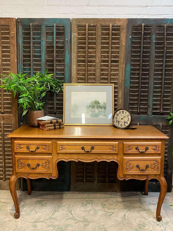 Vintage oak french  desk