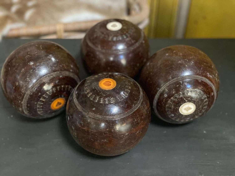 Vintage Thomas Taylor lawn bowls