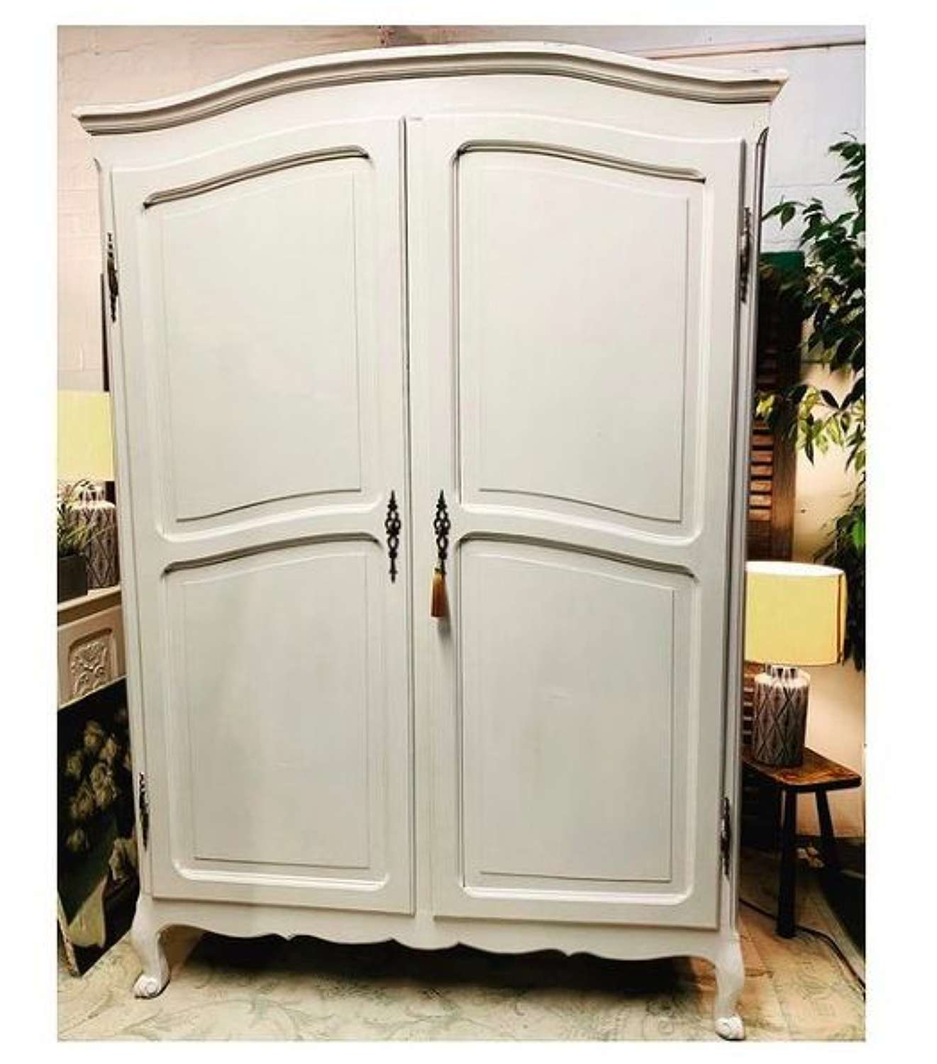 French 2 door wardrobe sourced and painted