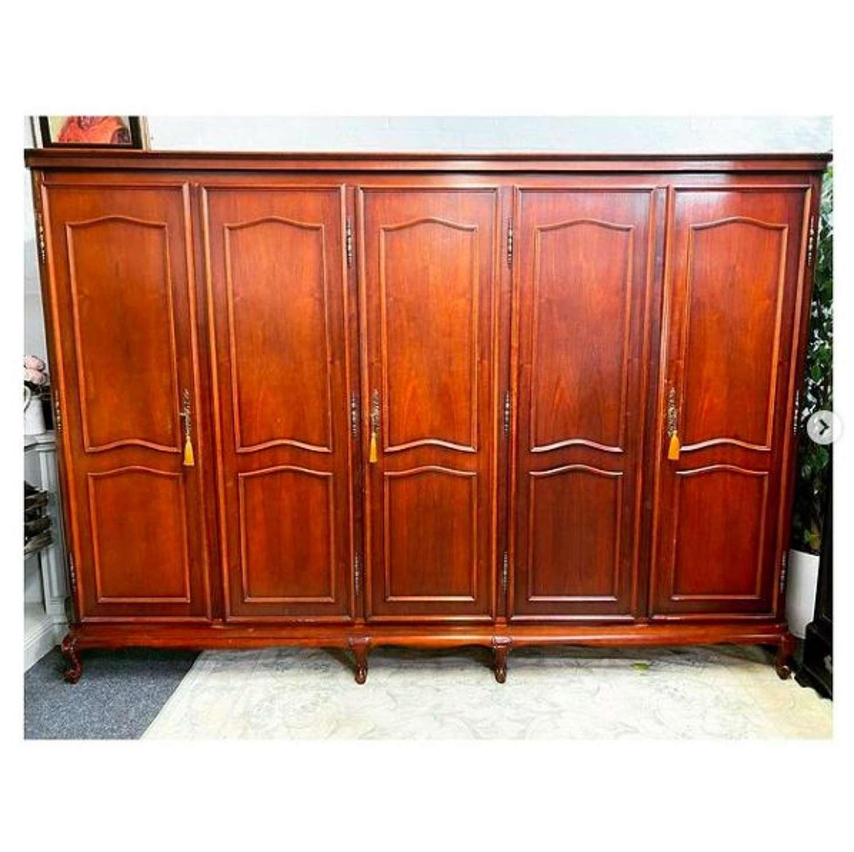 5 door cherrywood wardrobe
