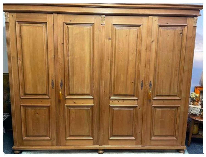 Dutch pine wardrobe