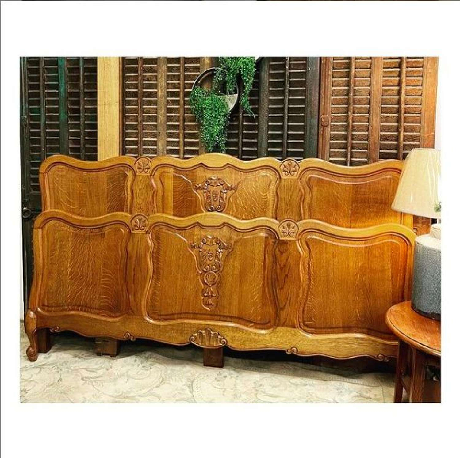 French oak bed available in super king size