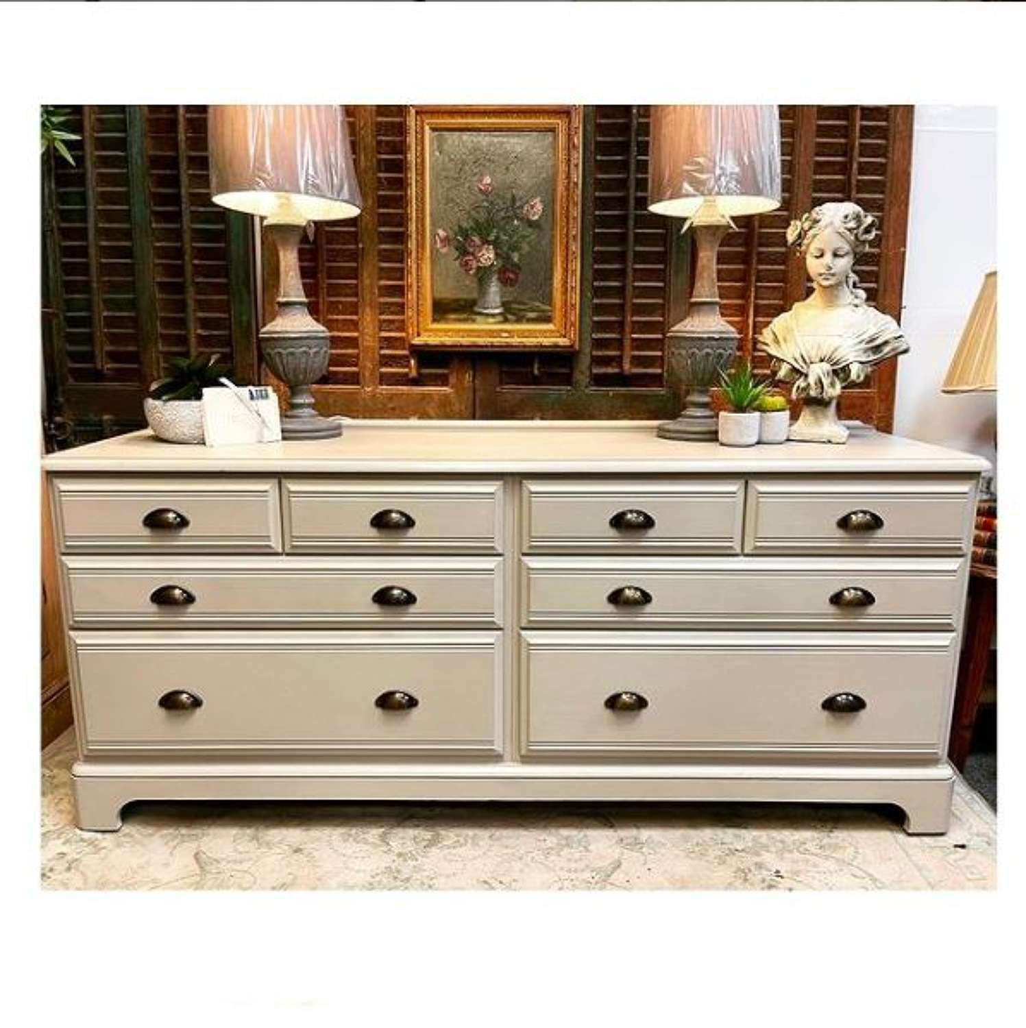 Multi drawer chestwith cup handles