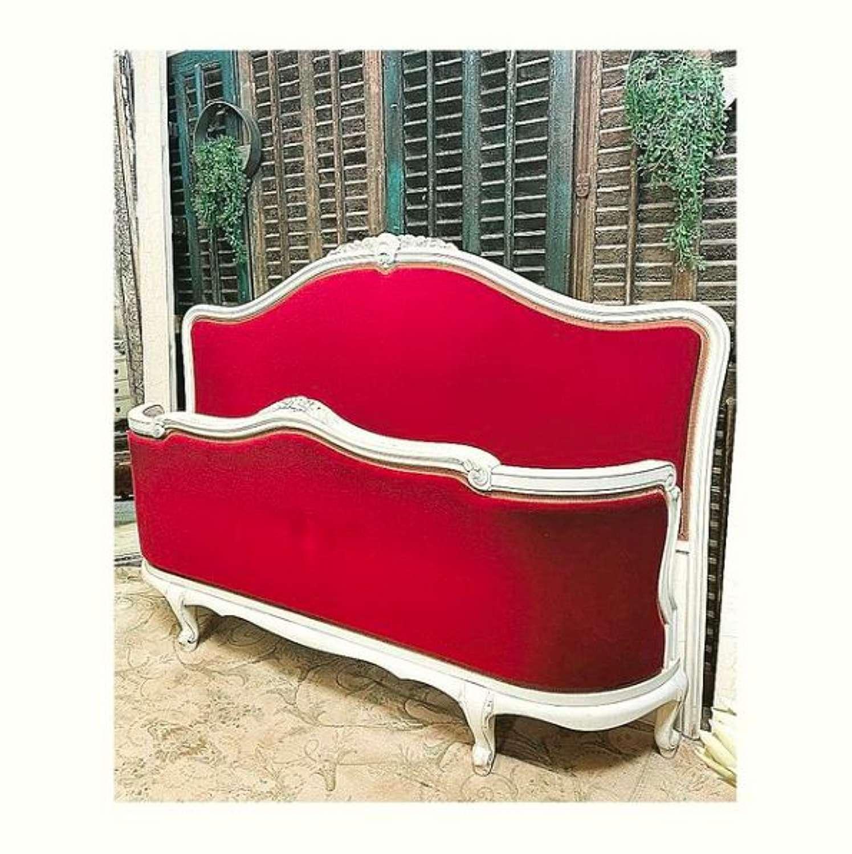 Regency Red Velvet French Bed