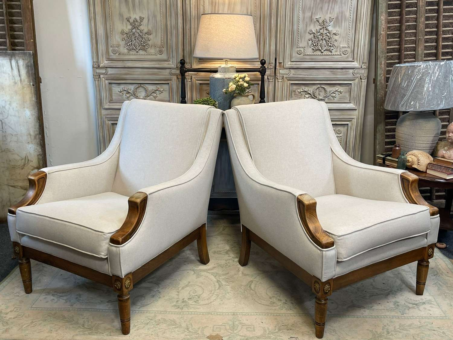 Empire style French armchairs