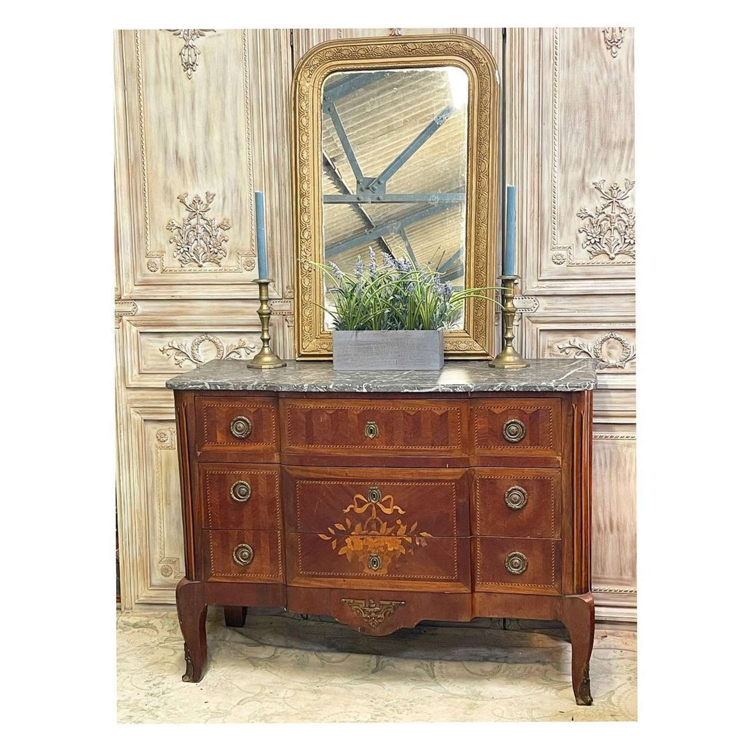 French Empire chest of drawers